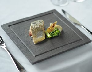 Welsh Slate Fine Maincourse Plate with Grooved border