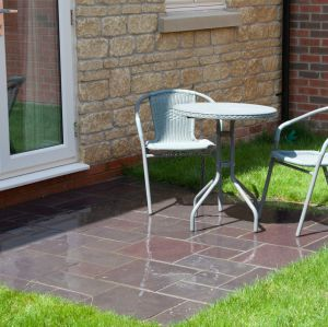 Welsh Slate Penrhyn Heather Blue Riven Paving Patio Pack 13.9sqm