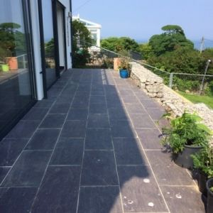 Welsh Slate Penrhyn Heather Blue Riven Paving slabs